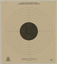 10 Meter (33 Ft.) Air Pistol Single Bullseye