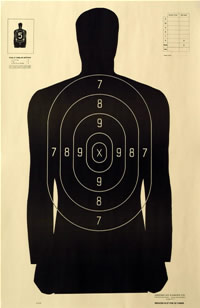 Law Enforcement target Special 25 yd Silhouette