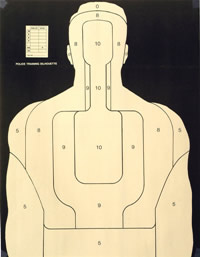 BT-5W S. D. Law Enforcement Training Target