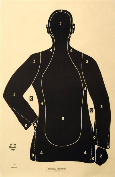 Law Enforcement Silhouette Target