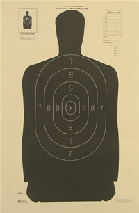 NRA Police Silhouette 25 yd. 			  Reduction from B-27