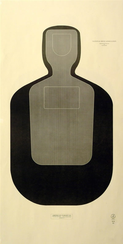 Official NRA Police Silhouette TargetPolice Shooting Target