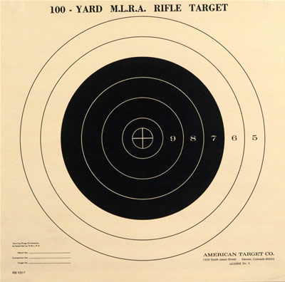 National Muzzle Loading Rifle Association Type-100 yard single Bullseye