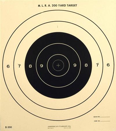 National Muzzle Loading Rifle Association Type 200 Yard