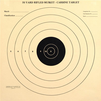 Rifle Musket-Carbine Single Bullseye 50 yard