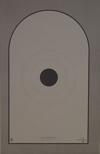 AP-1 modified Bianchi Cup Action Pistol Target 4inch black center